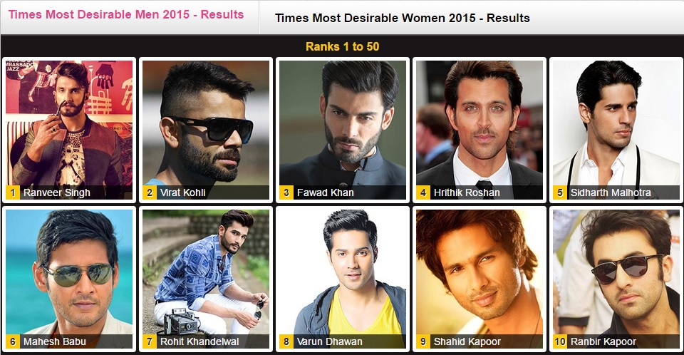 Fawad Khan Most Desirable Men 2015