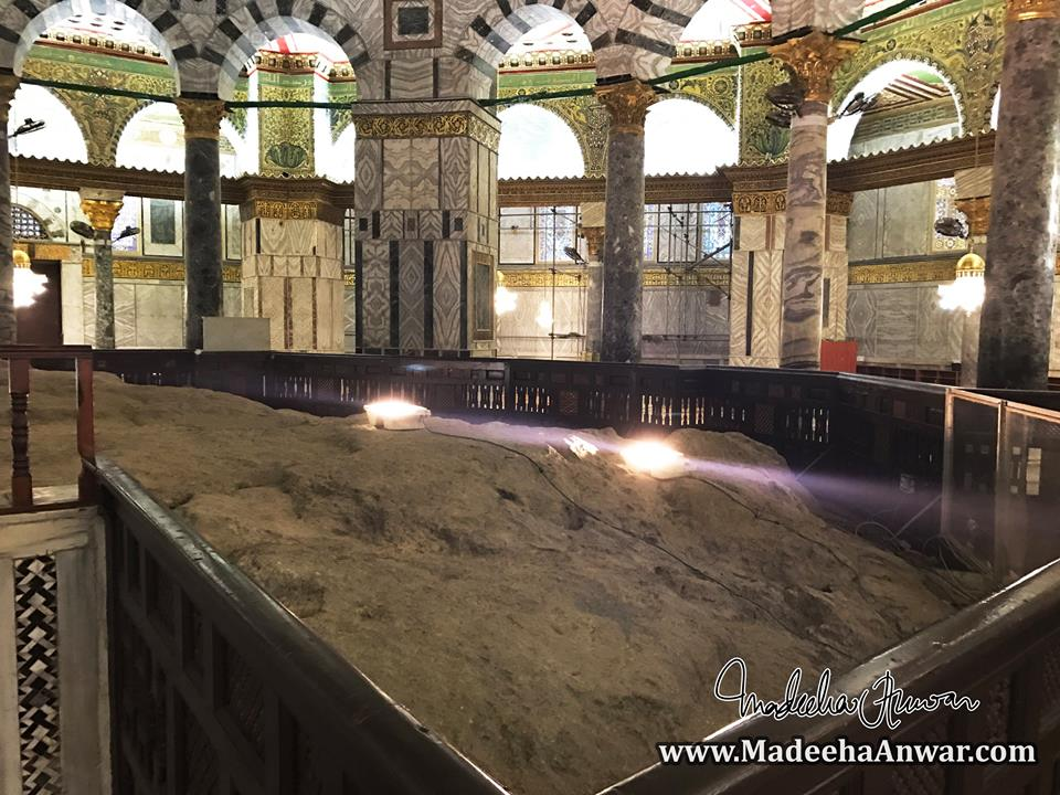 the-foundation-stone-from-where-it-is-believed-prophet-muhammad-ascended-to-heavens-on-the-night-of-mairaj-madeeha-anwar-chaudhry