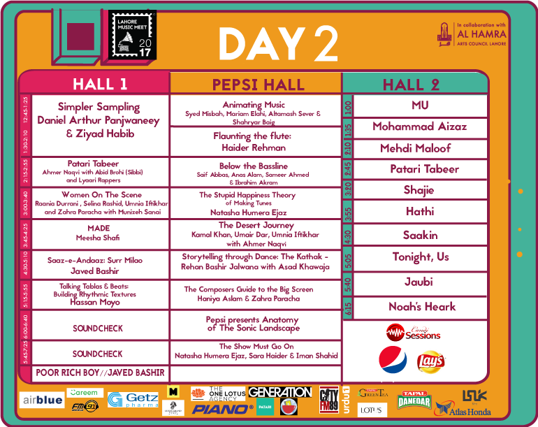 Lahore Music Meet 17 Schedule Day 2